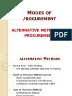 Alternative Methods of Procurement