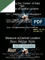 Describing the _Center_ of Data Set