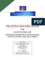 MCA Training Record Book Revision 22-04-2