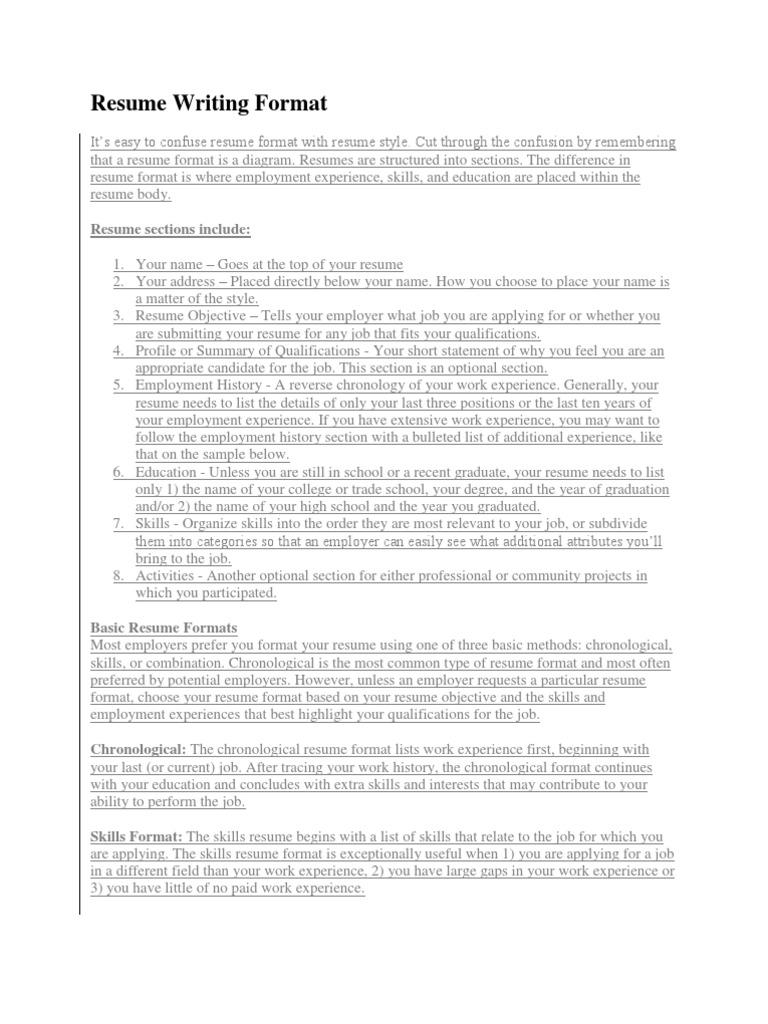 Resume Writing Format.docx   Résumé   Computing