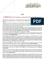 JAHEZ Dowry Conditions Set by the Groom for Marriage