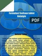 Formulasi Sediaan Tablet Antalgin
