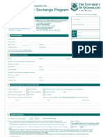 Study Abroad App Form