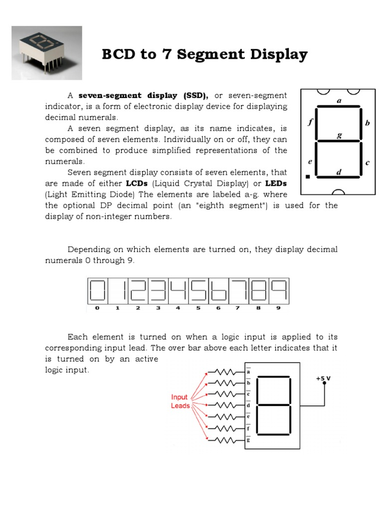 Project Report Of 7 Segment Binary Coded Decimal Electrical Circuits Logic Diagram Bcd To Seven Decoder