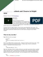 Anonymous Methods Closures Del Phi 2010