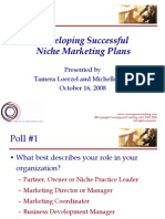 Niche Marketing Plans 100708