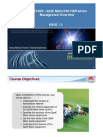 OTA101001 OptiX Metro 1001000 Series Management Overview ISSUE1.0