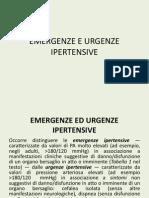 Emergenze e Urgenze Ipertensive