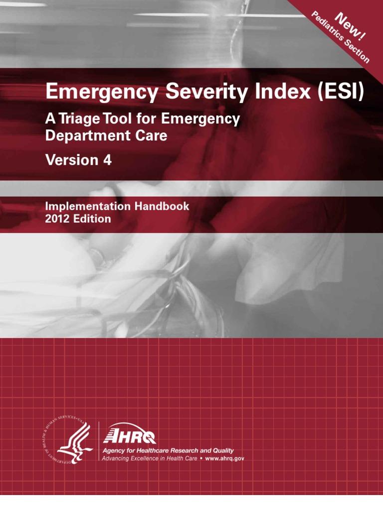 emergency severity index emergency department nursing