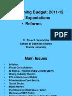 Forthcoming Budget 2011-12[1]