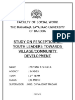 Study on Perception of Youth Leaders Towards Village Community Development