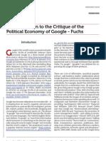 Www.uta.Edu a Contribution to the Critique of the Political Economy of Google Fuchs