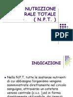 La Nutrizione Parenterale Totale (N.P.T)