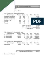 Cálculo da Demanda - Anexo I - B
