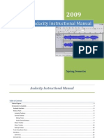 Audacity Instructional Manual