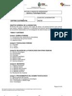 737-Química y Toxicología Forense I