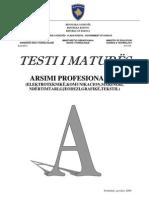 Testi a Profesional II Qershor 2009