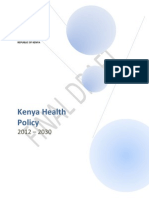 Kenya Health Policy