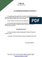 Courrier a.g Et Fin Cours - Saison 2011-2012