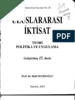 Uluslararasi Iktisat-halil Seyidoglu
