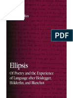(S U N Y Series in Contemporary Continental Philosophy)William S. Allen-Ellipsis of Poetry and the Experience of Language After Heidegger Holder Lin, And Blanchot -State University of New York Press(