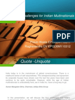 Challenges for Indian Multinationals (1)