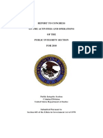 USDOJ Report to Congress on the Activities and Operations of the Public Integrity Section for 2010