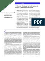 OCD | Obsessive–Compulsive Disorder | Selective Serotonin