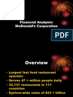 McDonalds Financial Analysis