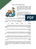 Derechos de Los Peatones Discapacitados