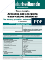 Oxygen therapies The Airnergy principle – review and original data