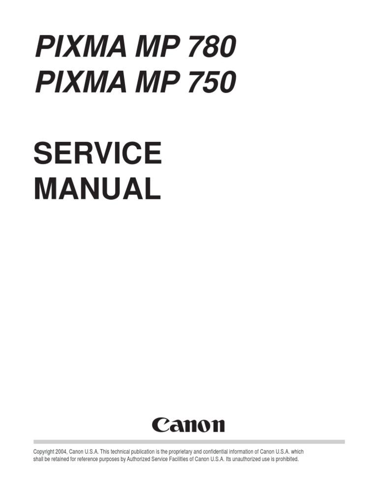 canon mp750 780 service manual fax image scanner rh scribd com Canon PIXMA MP780 Wrong Cartridge Printhead for Canon PIXMA MP780