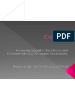 Achieving Operation Excellence and Customer Intimacy Enterprise Applications