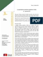 Popolazione Straniera Residente in Italia - 12_ott_2010 - Testo Integrale