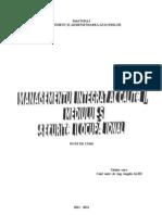 Manag. Integrat 2011-2012- Note de Curs
