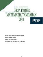 Kerja Projek Matematik Tambahan Kedah 2012