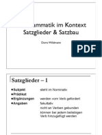 2 Satzglieder Und Satzbau