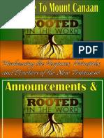 June 03, 2012 Announcements