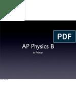 AP Physics B Primer
