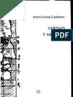 VerdadYMetodo Hans GeorgGadamer 1