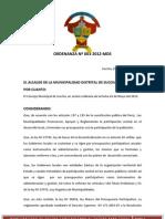Ordenanza Succha PP 2013