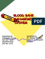 Database of Blood Bank1
