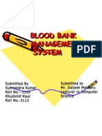 Database of Blood Bank1