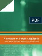 Glossary Corpus Linguistics