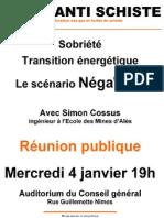 Affiche réunion Negawatt - 4 janvier 2012