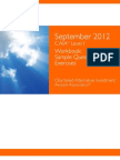 CAIA Sample Questions & Exercises