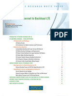 2011 Infonetics Research Whitepaper Using Carrier Ethernet to Backhaul LTE