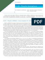 Capítulo 2.10 - Funções homogêneas