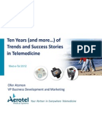 Atzmon - Ten Years of Success Stories in Telemedicine - Med-E-Tel 2012
