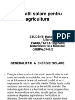 Instalatii Solare Pentru Agricultura Power Point